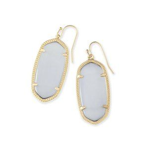 Kendra Scott Slate Gray Gold Elle Earrings
